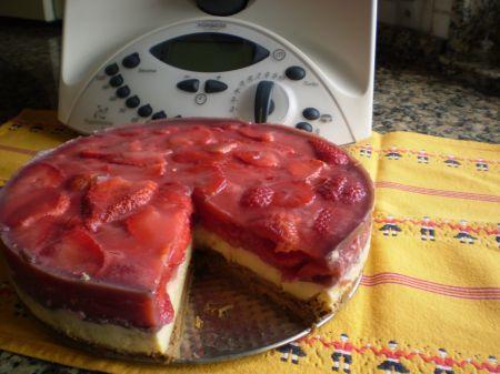 Tarta De Fresa Sin Azúcar Thermomix Tm 31 Diabetes