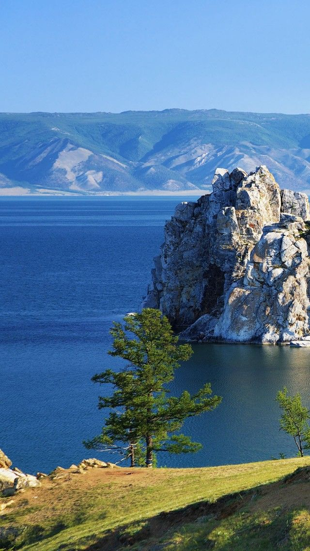 Beautiful Lake Baikal - Siberia (Russia). It is the world's oldest and deepest freshwater lakes - one of the world wonders