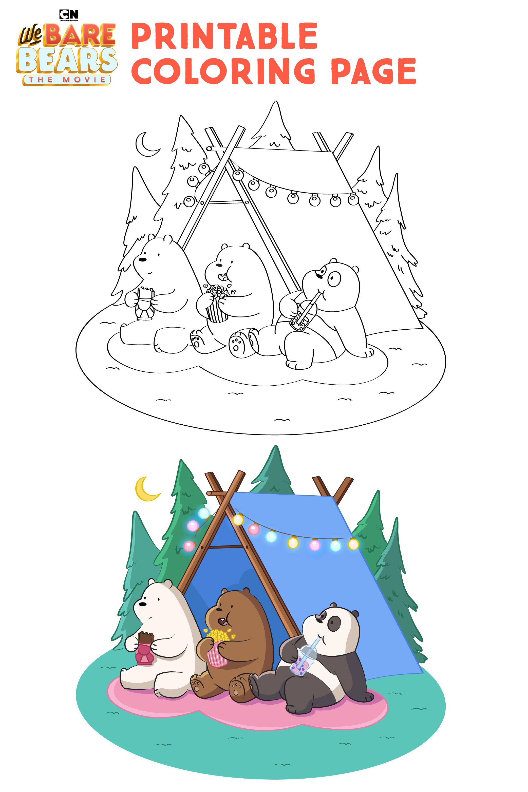 We Bare Bears Printable Coloring Page in 2020 We bare