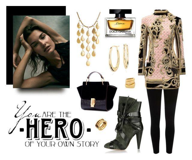 You're a Hero by classicstyle4u on Polyvore featuring Balmain, River Island, Isabel Marant, John Hardy, Blue Nile, Henri Bendel, Bulgari, Dolce&Gabbana and WALL