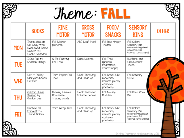 Huge post full of activities/ideas for fall themed tot school/preschool