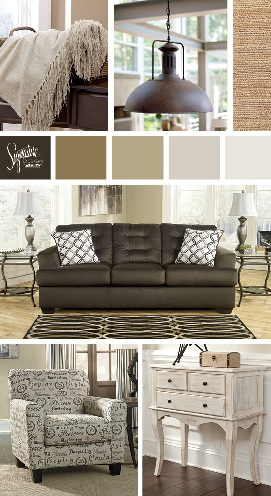 Channa Sofa Casual And Vintage Style Living Room Ashley Furniture