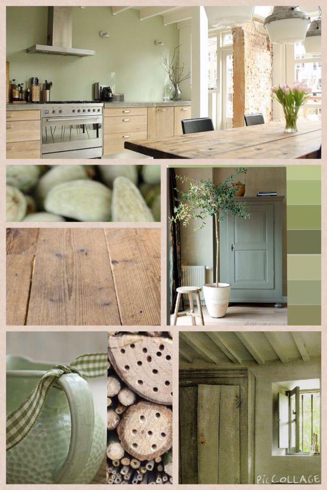 Deze groene kleur combineert heel goed met hout! Deze kleur is ...