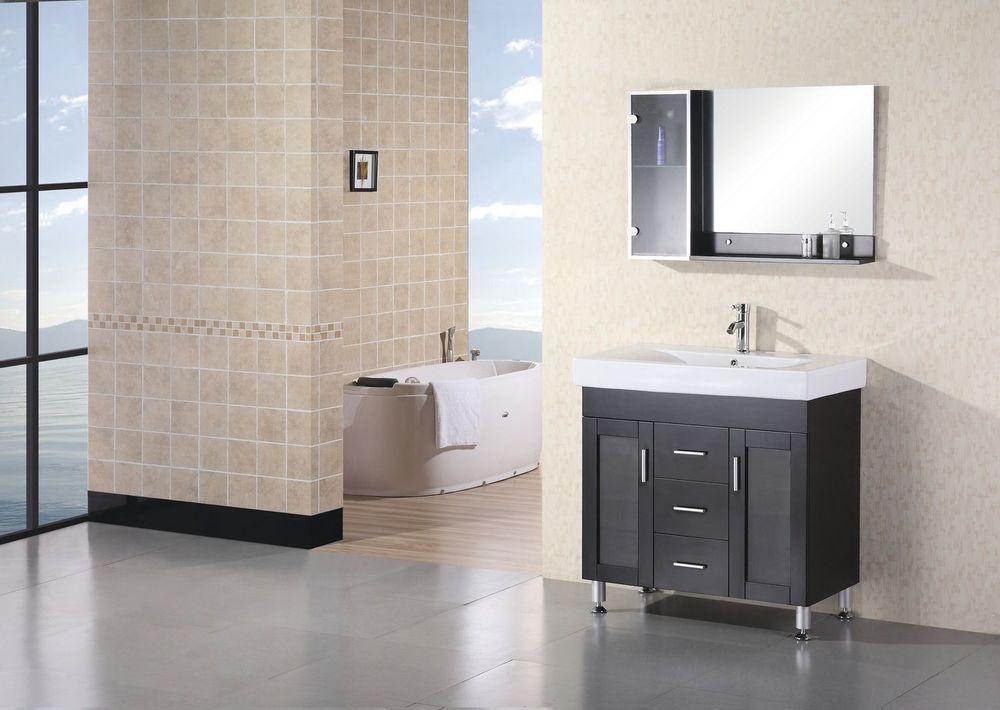 Details About Design Element 36 Miami Dec021 Modern Single Vanity Bathroom Cabinet Set Mirror Single Bathroom Vanity Single Sink Bathroom Vanity Single Sink Vanity