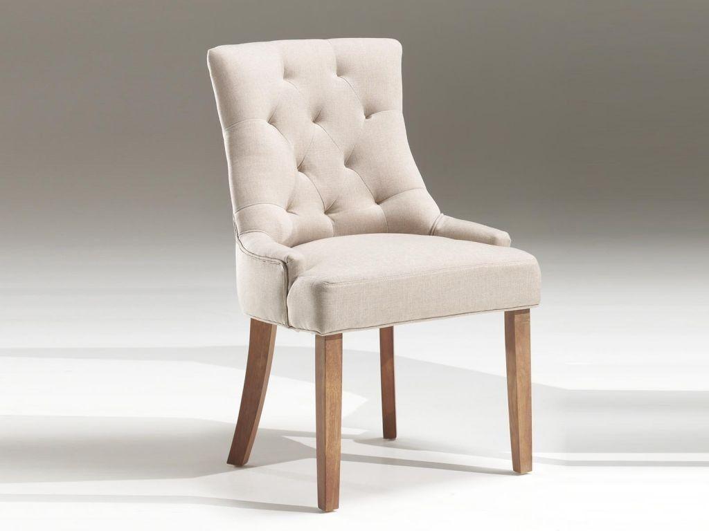 chaise capitonn e en tissu arina coloris sable am nagement pinterest chaise capitonn e. Black Bedroom Furniture Sets. Home Design Ideas