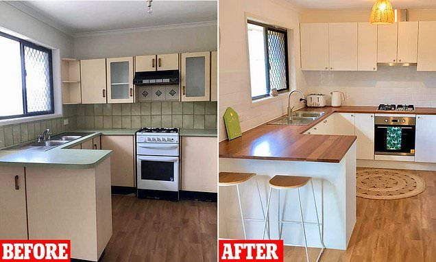 mother shows off 5 000 kitchen renovation with products from bunnings in 2020 budget kitchen on kitchen remodel under 5000 id=51475