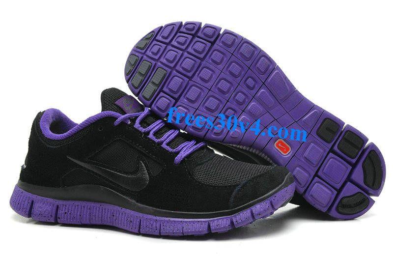 hot sale online 0e1d3 8f8df Black Violet Dark Grey Nike Free Run 3 Ext Women s Running Shoes Zapatillas  De Deporte Negras