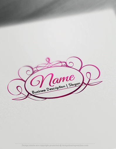 Vintage Logo Design Maker Frame Rose Logo Template Frame Logo Logos Design Beauty Logo Design