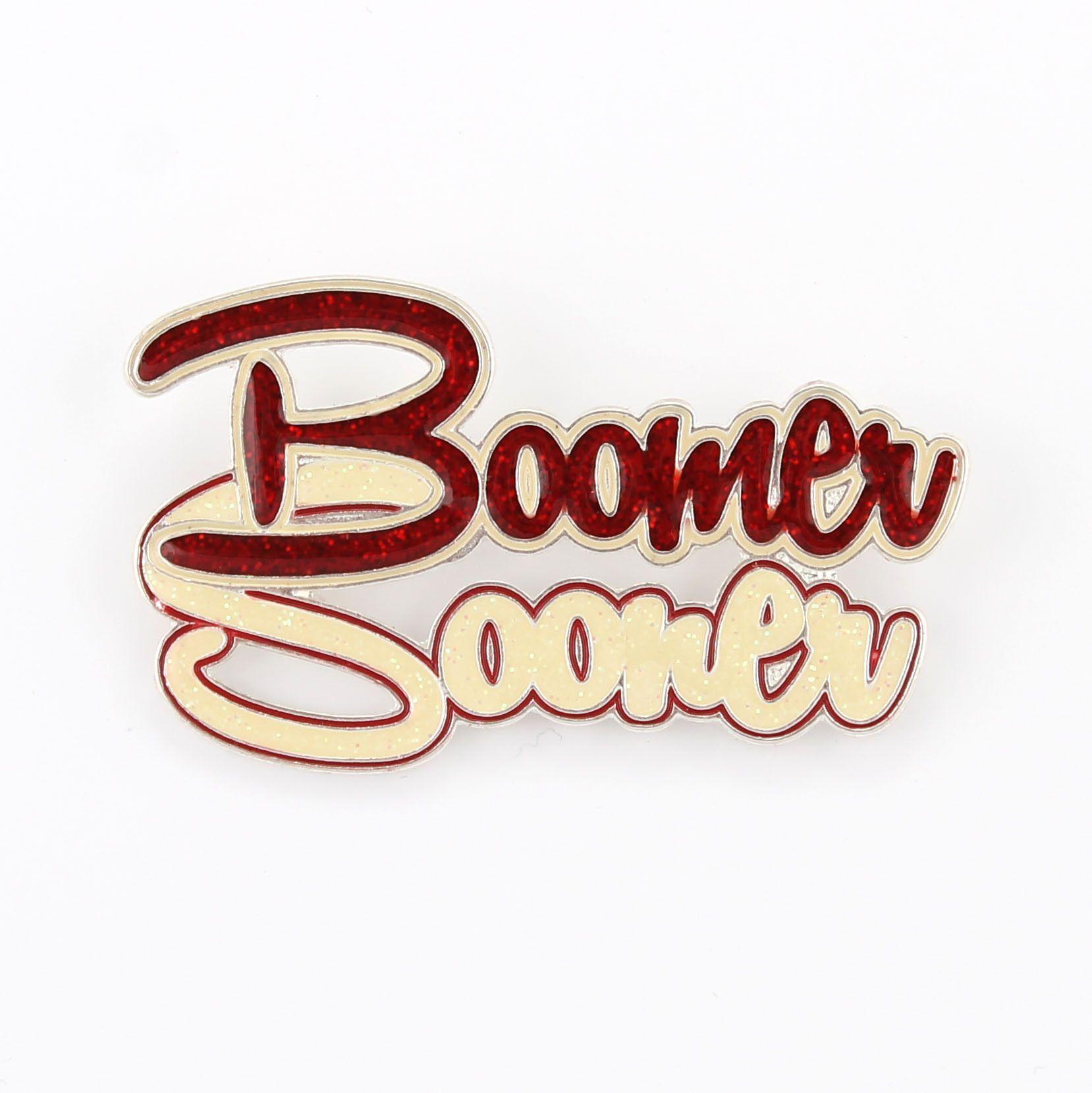 Oklahoma Slogan Pin Boomer Sooner Oklahoma Sooners Oklahoma