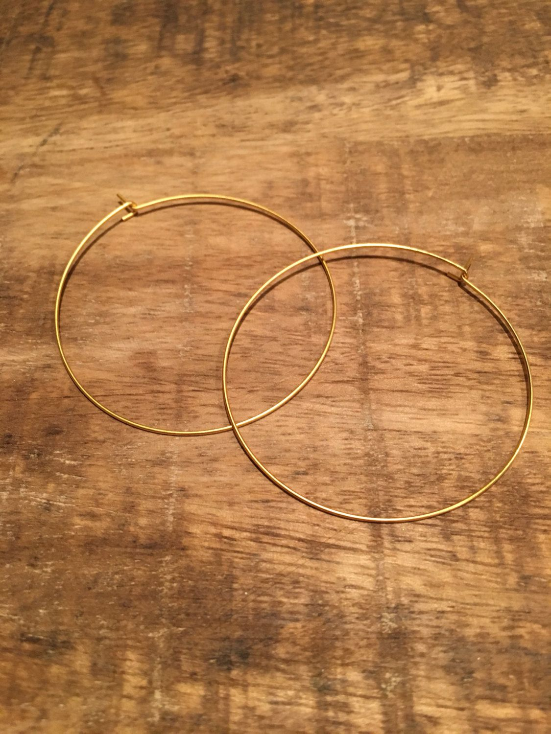 Gold Ultra Thin Hoop Earrings By Modernmemoriesjewels On Etsy