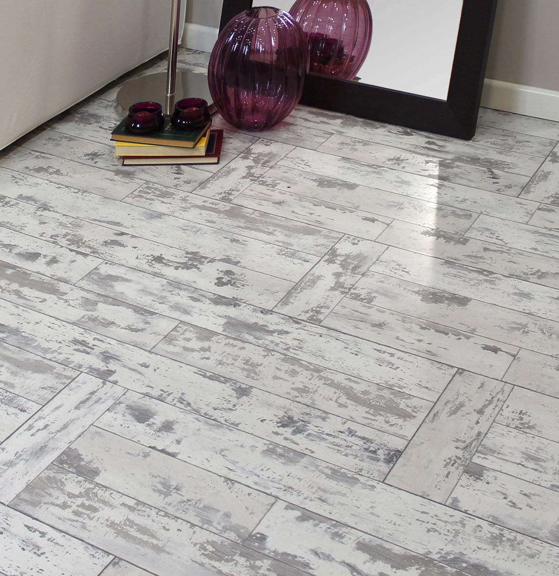 Leggiero Whitewash Oak Effect Laminate Flooring 1.72 m²