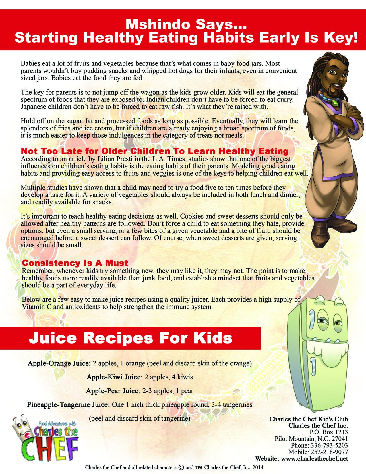 Page  Of Charles The Chef Newsletter  Newsletter