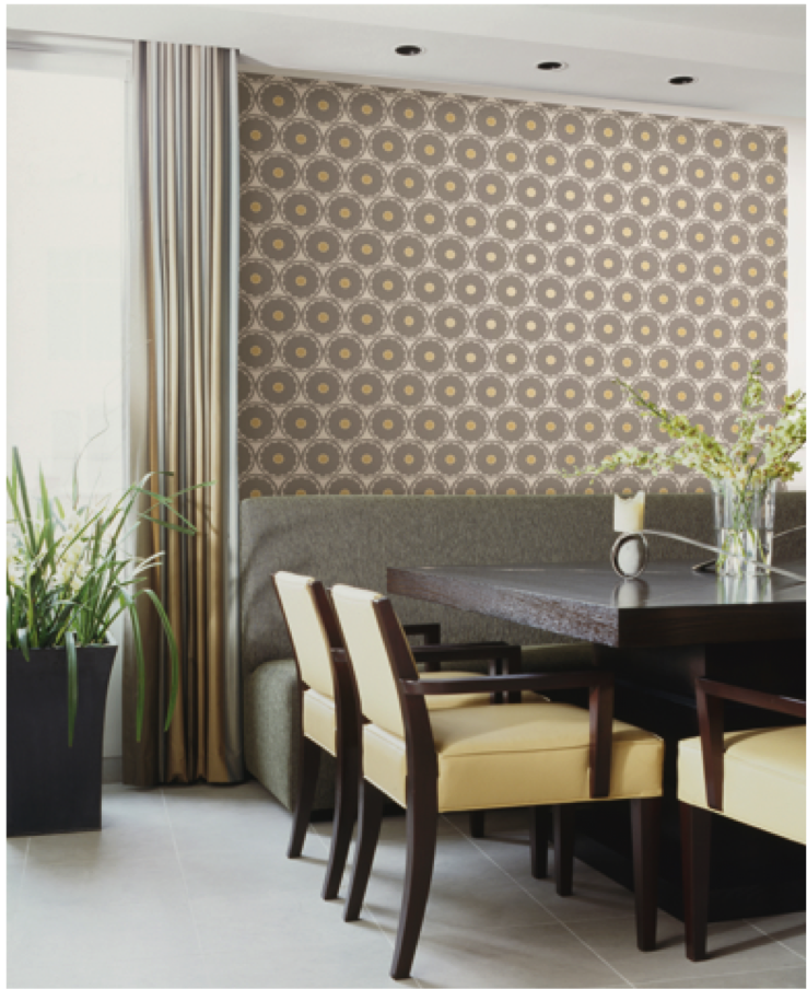 Add dimension with this wallpaper design from the HGTV