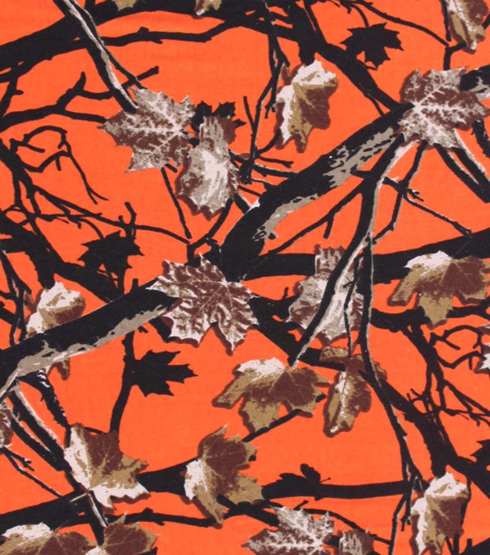 Sweatshirt Fleece Fabric Hunter Orange Camo At Joann Com Fleece Fabric Fabric Snuggle Fabric