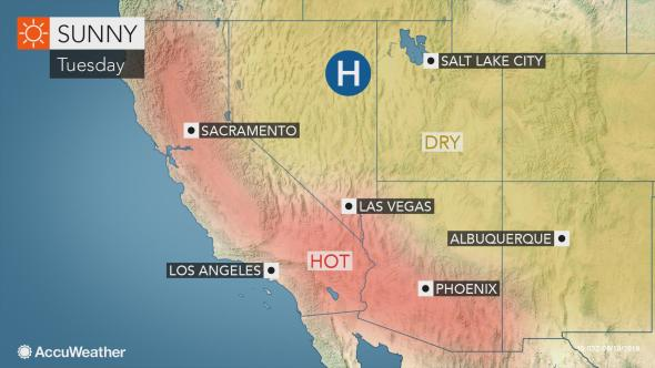 Us West Coast To Endure Record Challenging Heat This Week Us West Coast Weather News Severe Weather
