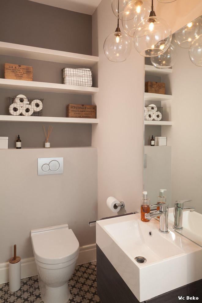 Gäste Wc Fliesen Ideen   Badmöbel Braun - My Lovely Bath ...