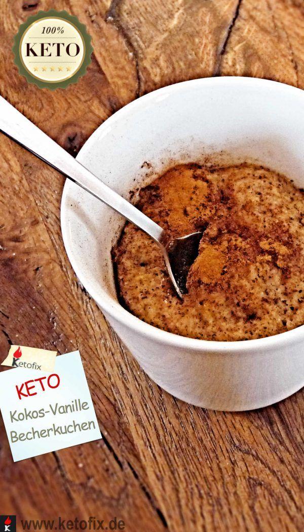 Low Carb Kokos Vanille Tassenkuchen Rezept Lecker Tassen Kuchen