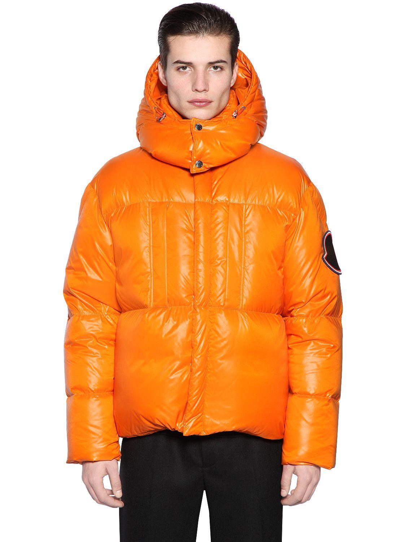 Moncler Nazka Down Jacket In Orange ModeSens Down