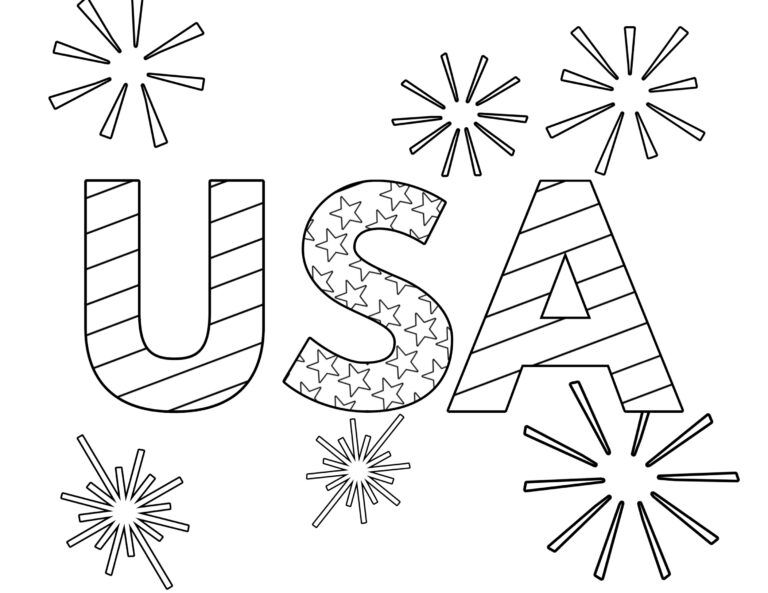 Free Printable 4th Of July Coloring Pages Paper Trail Design Flag Coloring Pages Christmas Coloring Pages Abstract Coloring Pages