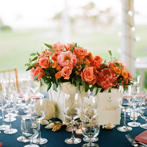 Coral Wedding Reception Ideas: Boca Grande Rehearsal Dinner At Gasparilla Inn