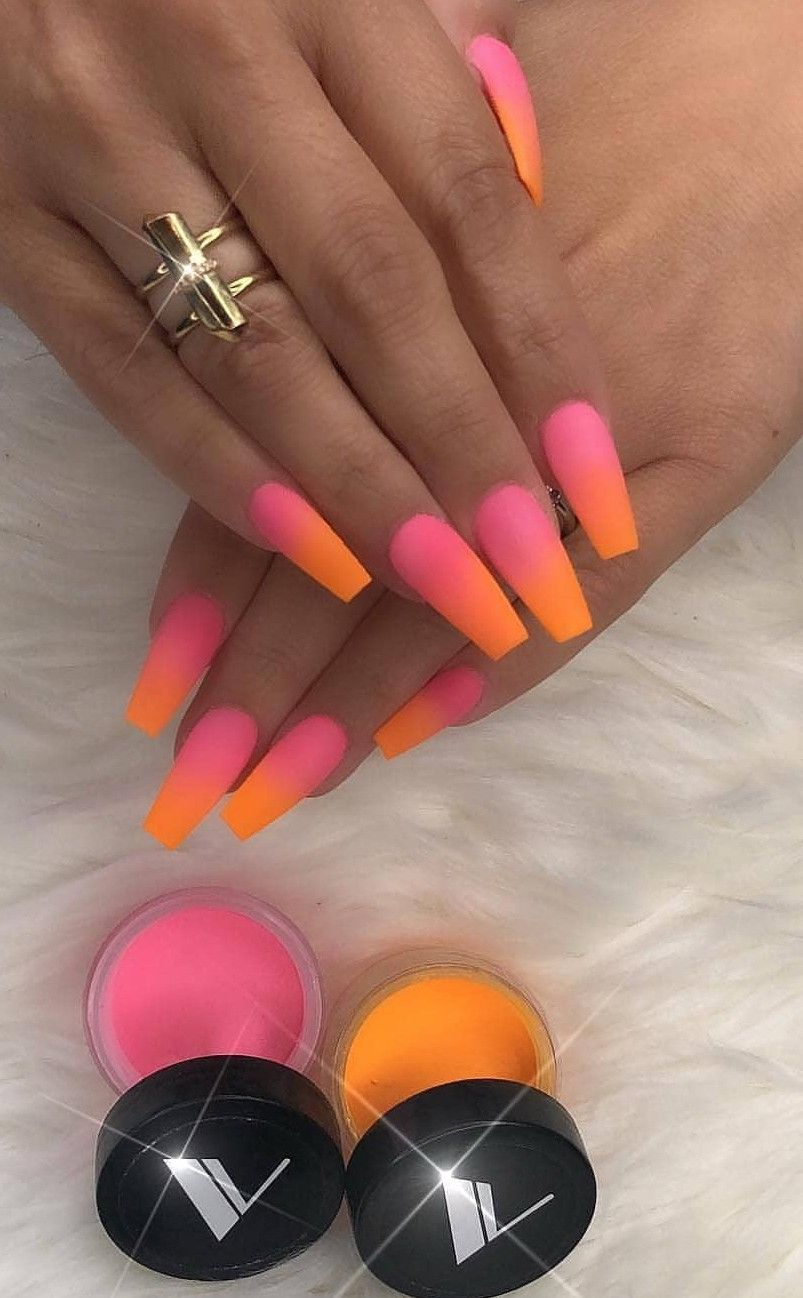 Ombre Nails Sunset Nails Ombre Nails Powder Nails