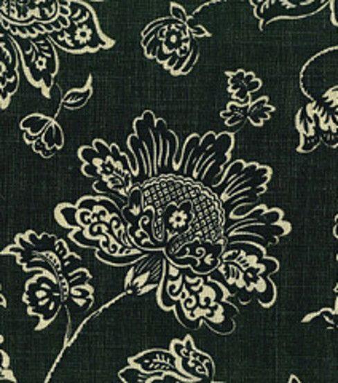 Home Decor Fabrics Waverly Everard Damask Onyx Fabric