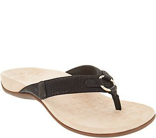 4f83240e882 Vionic Thong Sandals with Ring Detail - Elena
