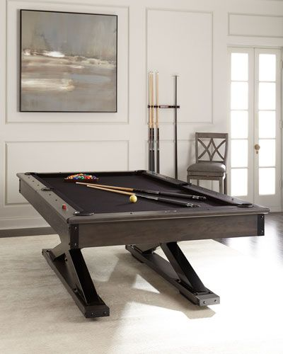 HQUK Bronco Pool Table With Table Tennis Conversion Set Furniture - Convert indoor pool table to outdoor