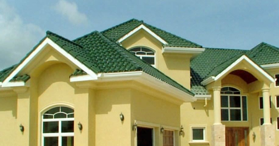 green spanish tile roof - Google Search