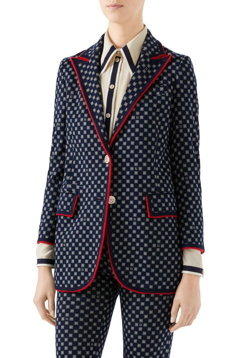 Free shipping and returns on Gucci GFrames Jersey Jacket