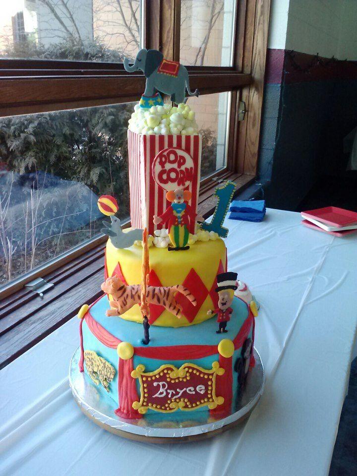 Circus Cake Go Wild Cakes Pinterest Circus cakes Cake and