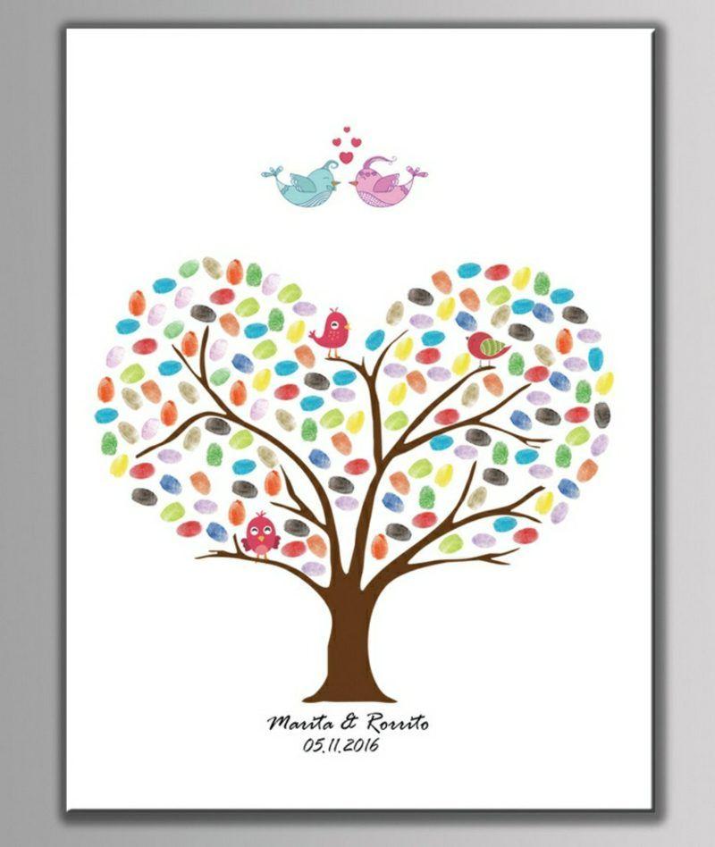 Bastelideen Fur Die Sommerferien Fingerabdrucke Mit Kindern Machen Bilder Selbst Gestalten Fingerabdruck Baum Hochzeit Fingerabdruck Bilder