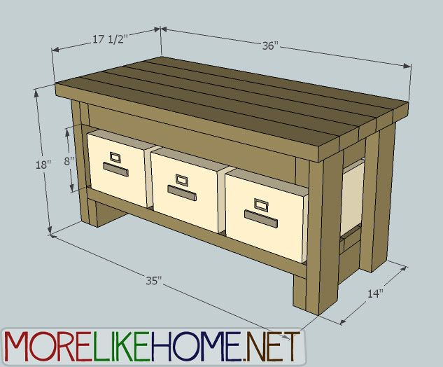 Foyer Bench Dimensions : More like home day build a bench with s kitchen