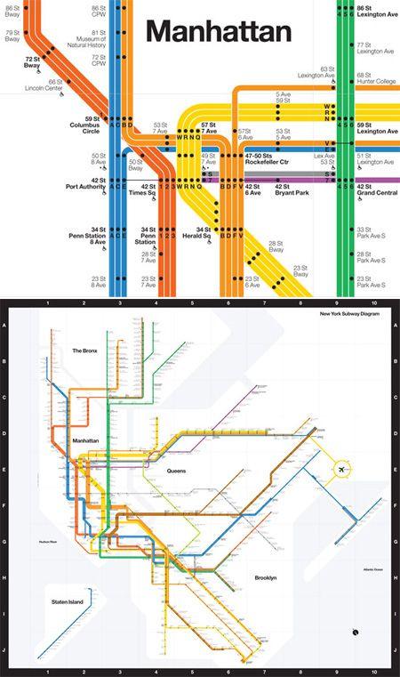 Nyc Subway Map Inspired Design.Massimo Vignelli Updates His Nyc Subway Design Design Inspiration