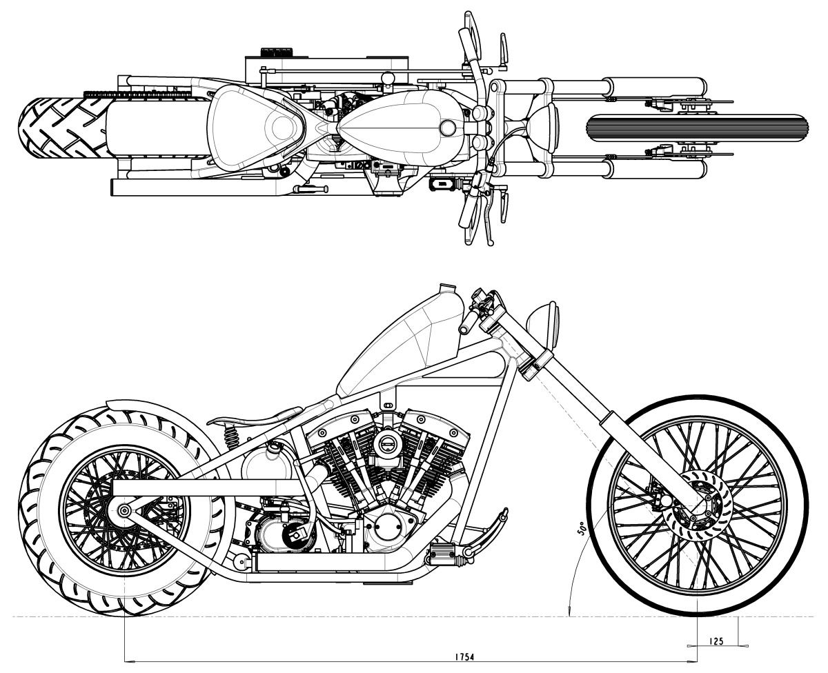 mechwerks plans and drawings for choppers and t