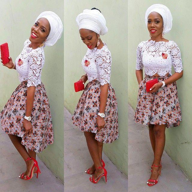 fcdfb4658dc44 Top Ten Ultra Modern Ankara High Waist Skirt Styles Dabonke
