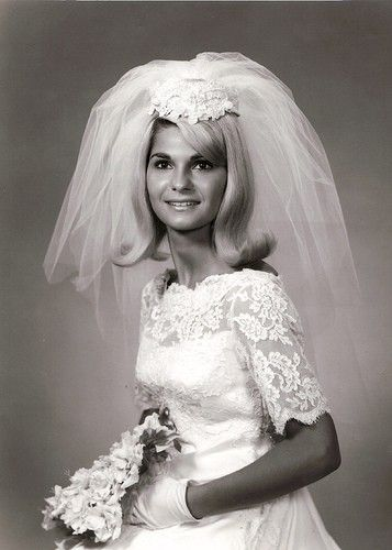 bride 1965. I think she is so darling! has the whole mid 60s thing happening here