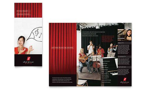 Music School  Brochure Template  Brochures