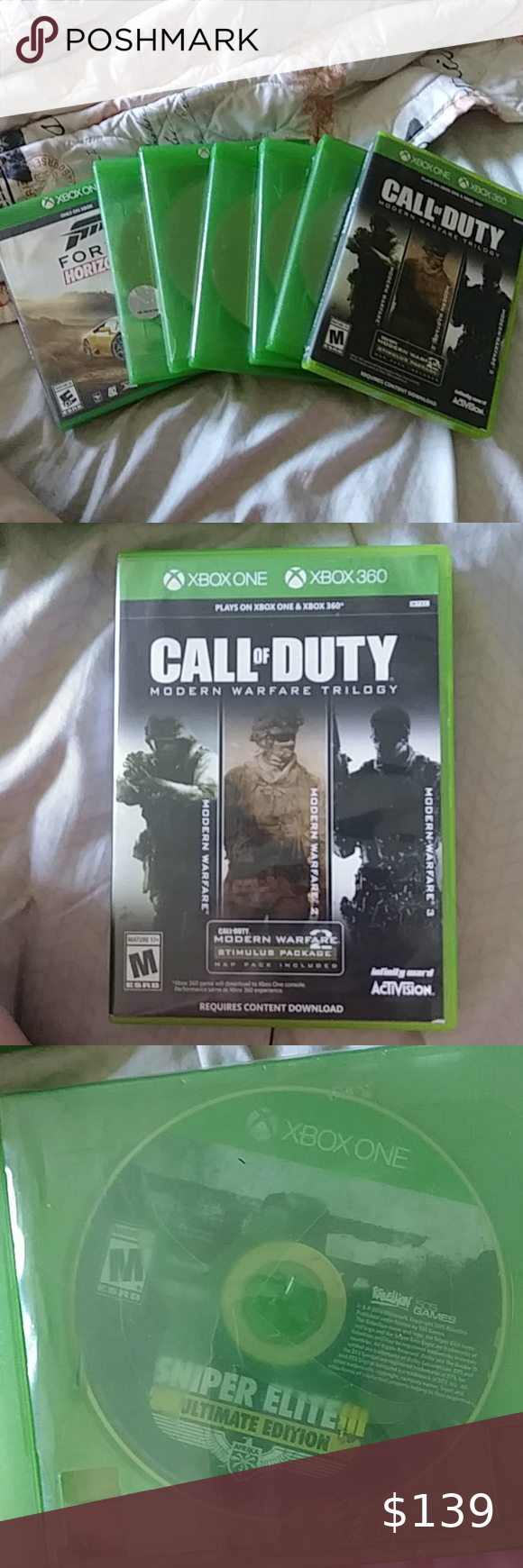 Xbox One Games I M Open To Offers And Discounted Bundles I Do Not Mind To Separate The Games Are Call Of Dudy Modern W In 2020 Xbox One Games Xbox One
