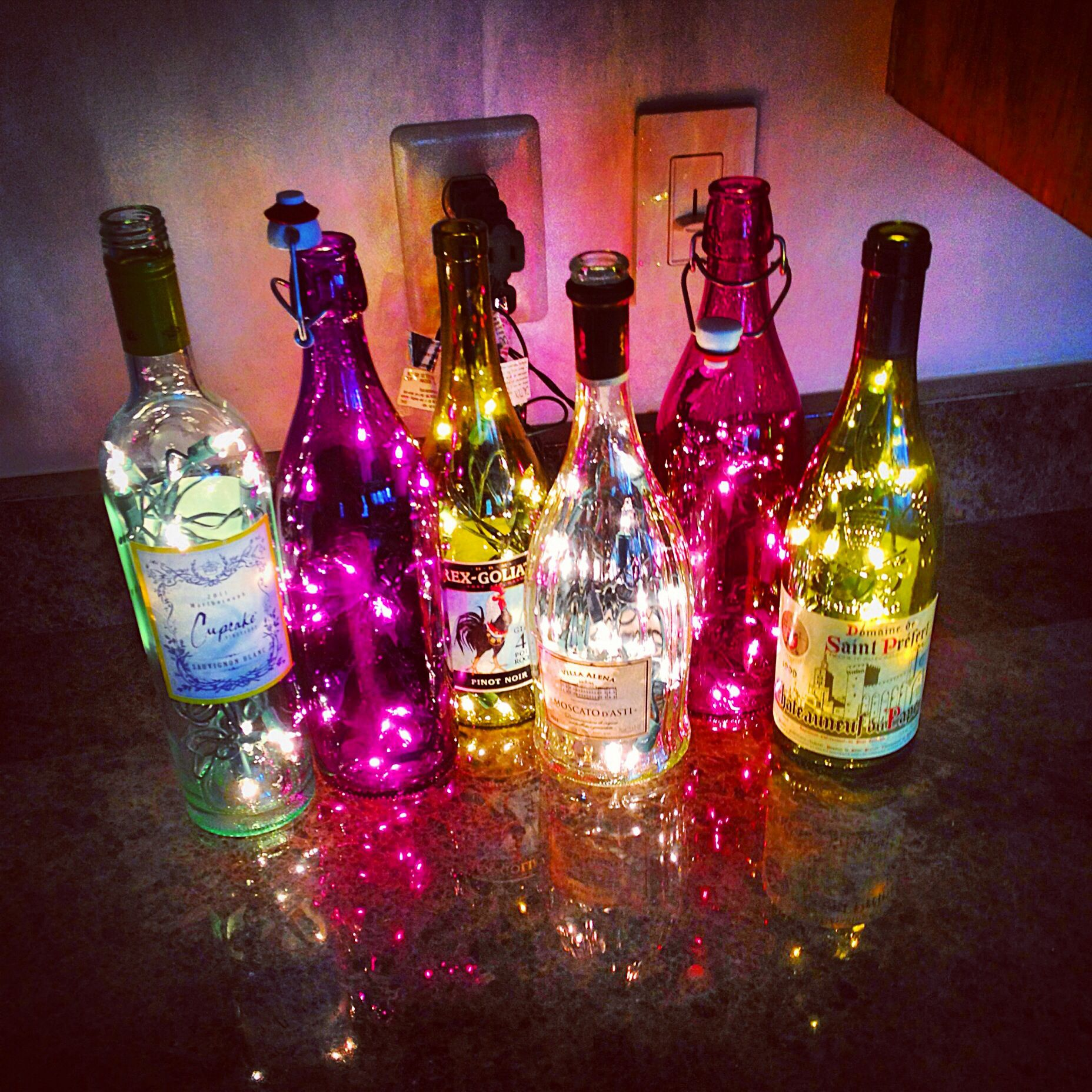 Wine Bottles Diy Smart Love The Idea Of Recycling Gorgeous Wine Bottles And The Look Wine Bottle Diy Wine Bottle Crafts Bottle Crafts