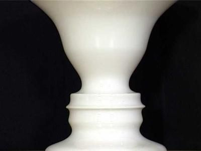 Ambiguous Illusions Face Vase Optical Illusion Found At Grand