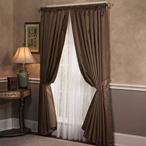 Bedroom curtains - I love the thinner layer underneath the heavier ...