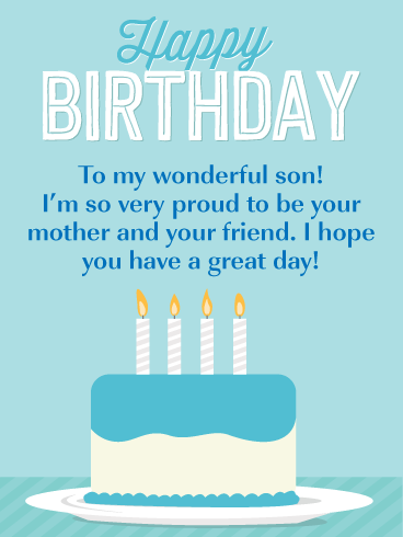 Birthday Cards For Son From Mom : birthday, cards, Proud!, Happy, Birthday, Mother, Greeting, Cards, Davia, Mother,, Greetings, Facebook
