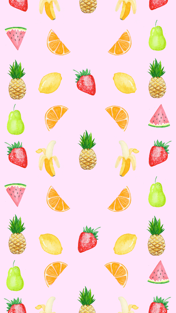 Pink Orange Red Watercolour Mini Fruits Fruity Iphone Wallpaper Phone Background Lockscreen Pineapple Wallpaper Fruit Wallpaper Fruit