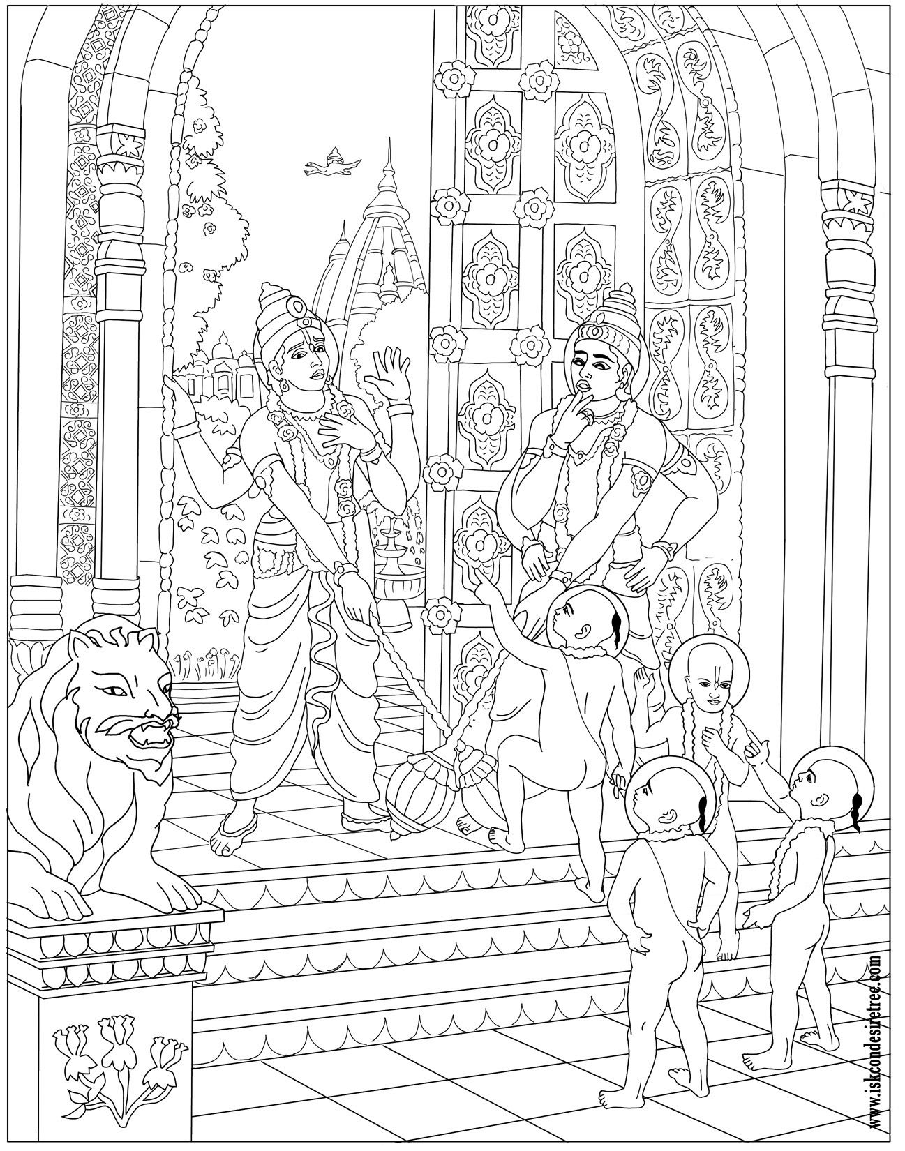 krishna coloring google search adult coloring pages on coloring krishna art - Baby Krishna Images Coloring Pages
