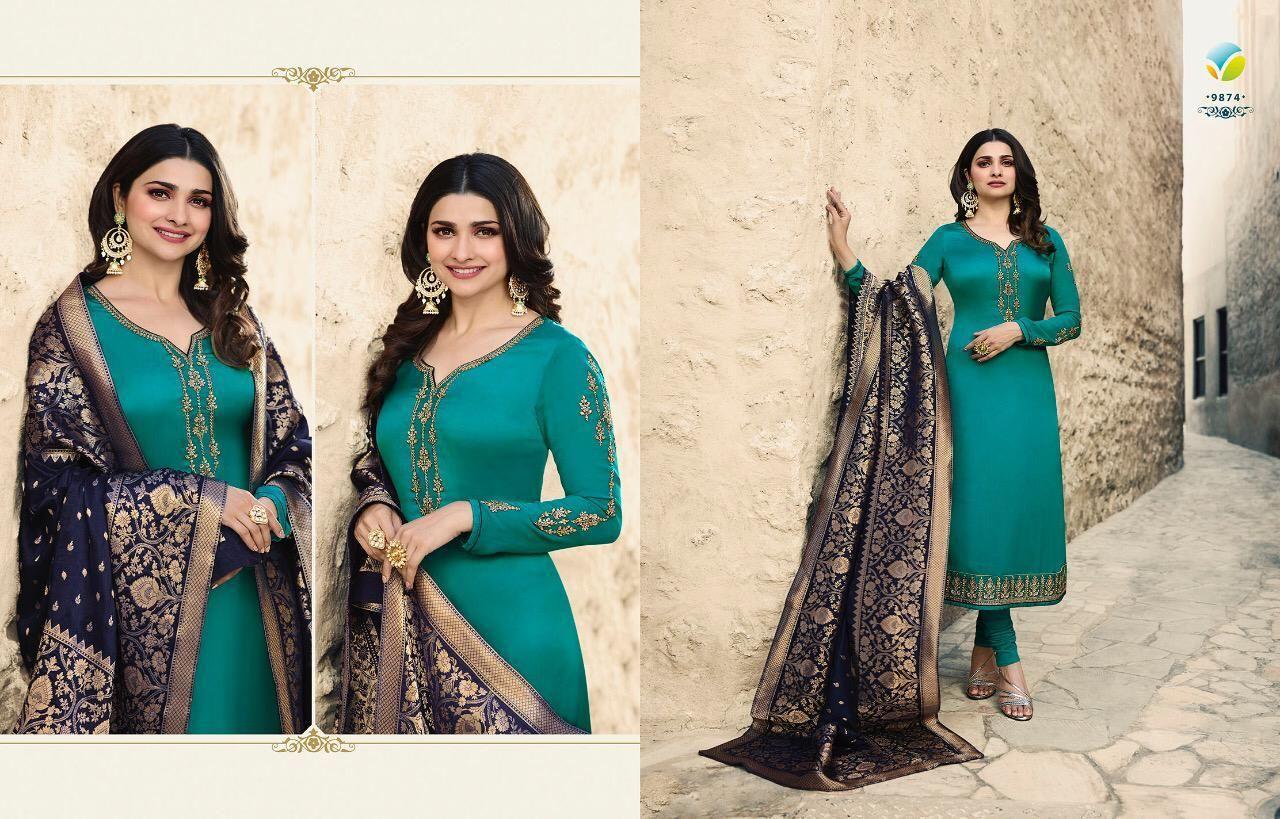 98a2b213e0 Vinay Kaseesh Banaras Vol 3 Prachi Desai Salwar Suit Wholesale Catalog 8  Pcs - Suratfabric.com