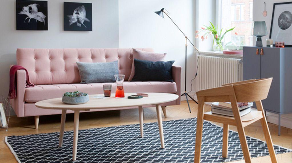 Wohnaccessoires und Möbel in rosa und kupfer auf STRIKE magazin - wohnzimmer weis rosa