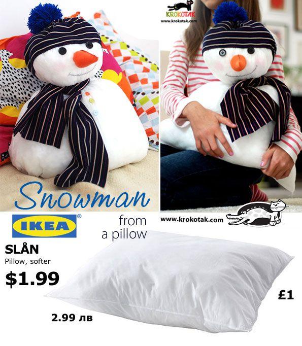 113b01c4918 Snowman from a pillow (IKEA)