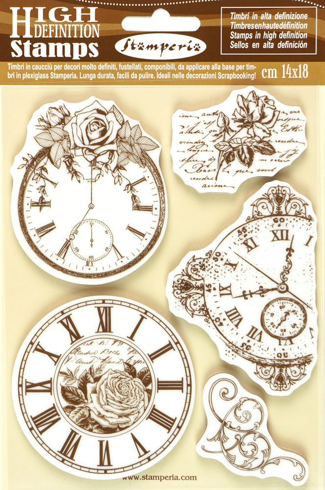 5 Stamperia High Definition Vintage Rubber Stamps For Scrapbooking Craft DIY