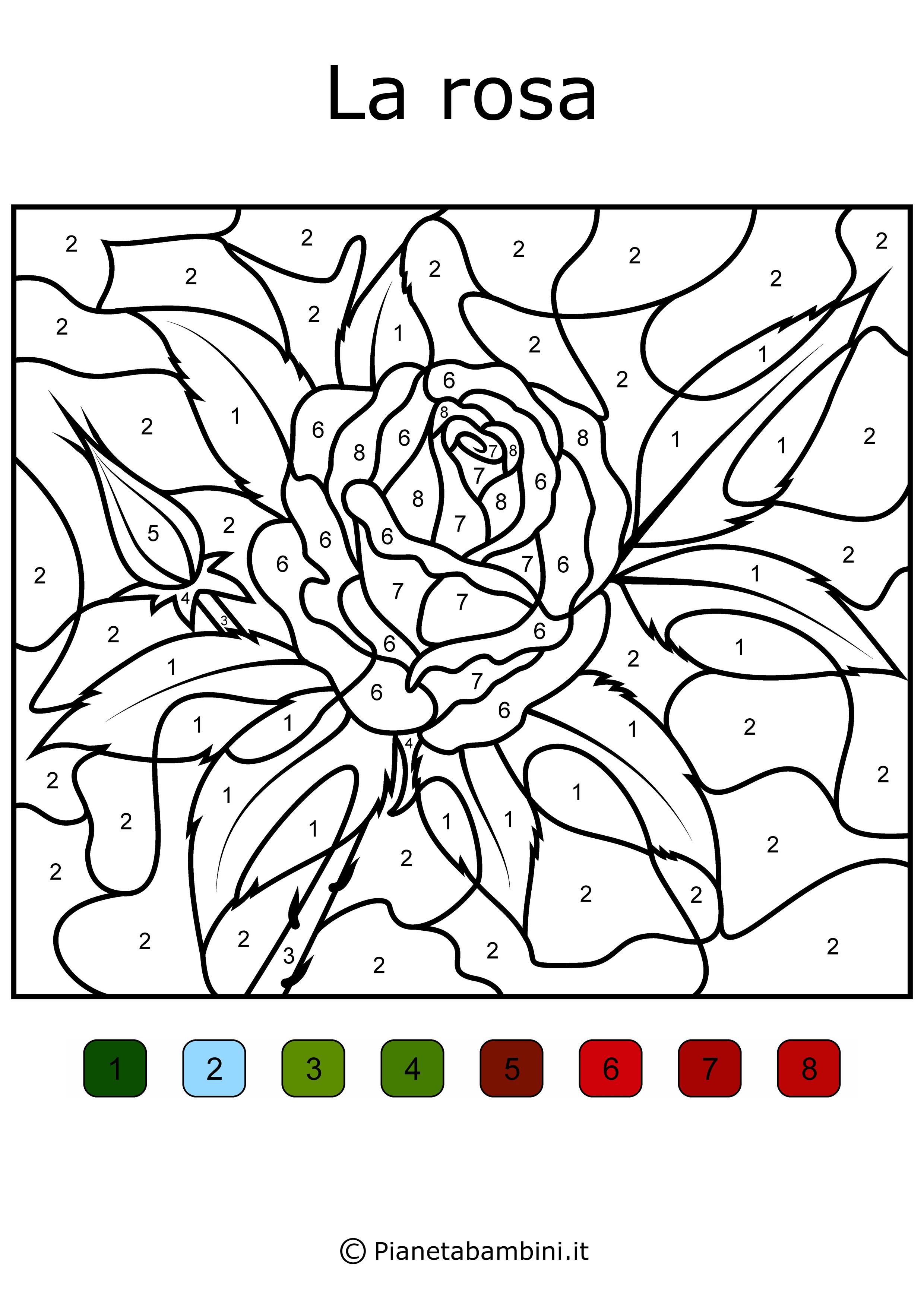 Disegni Da Colorare E Stampare Con I Numeri.Conta E Colora 48 Disegni Da Colorare In Base Ai Numeri Disegni Da Colorare Disegni Cartoni Animati
